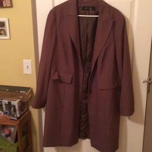 Brown knee length blazer